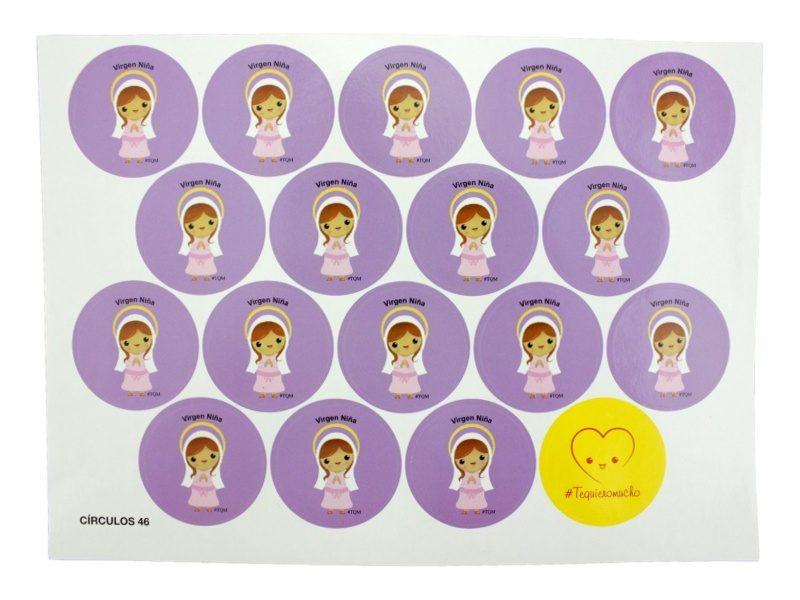 Plancha_18_stickers_Virgen_Niña_infantil