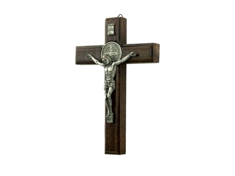 Crucifijo_de_pared_de_madera_con_Cristo_y_medalla_San_Benito_15x10cm_-_costado
