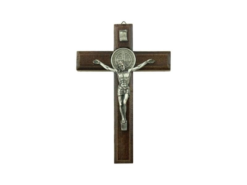 Crucifijo_de_pared_de_madera_con_Cristo_y_medalla_San_Benito_15x10cm_-_frente