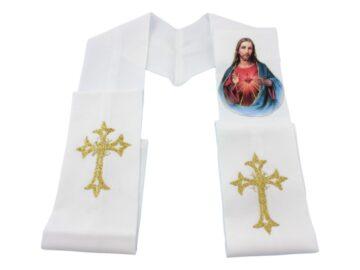 Estola_sacerdotal_simple_estampada_Sagrado_Corazon_-_abierta