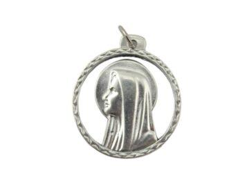 Medalla_Plateada_Virgen_con_aureola_chata_35mm_-_frente