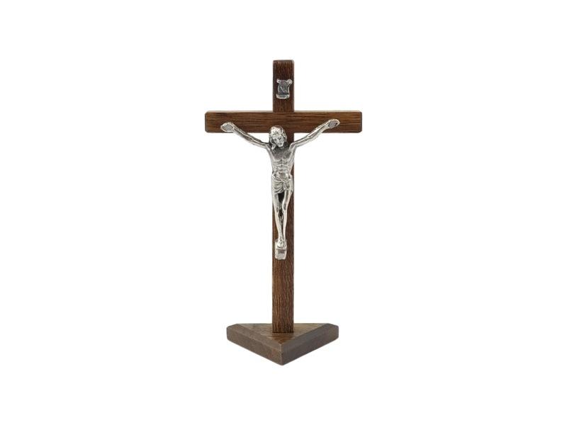 Crucifijo_con_base_Madera_oscura_con_Cristo_16x8cm_-_frente