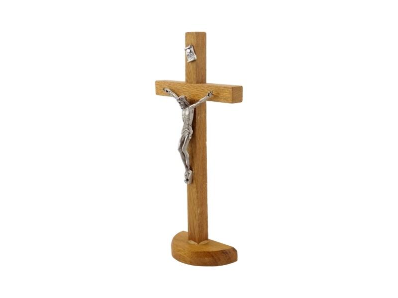 Crucifijo_con_base_Madera_clara_con_Cristo_19x10cm_-_costado