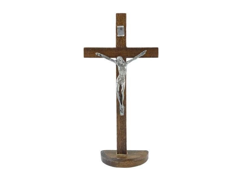 Crucifijo_con_base_Madera_oscura_con_Cristo_22x11cm_-_frente