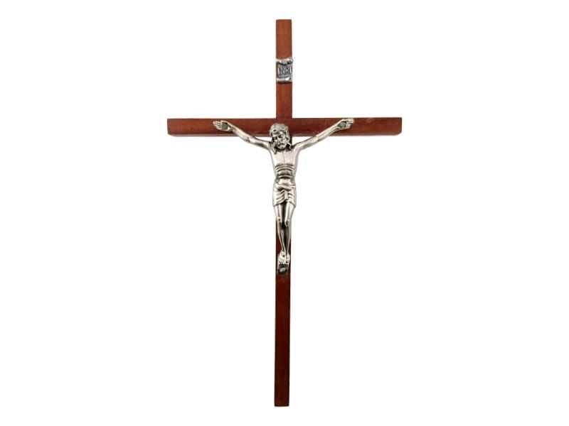 Crucifijo_pared_Madera_con_Cristo_Angosta_28x16cm_-_frente