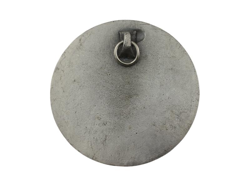 Medallon Fundicion Rostro de Cristo 8cm - dorso