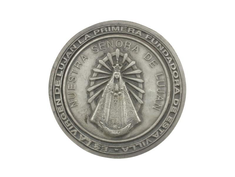 Medallon Fundicion Lujan 8cm - frente