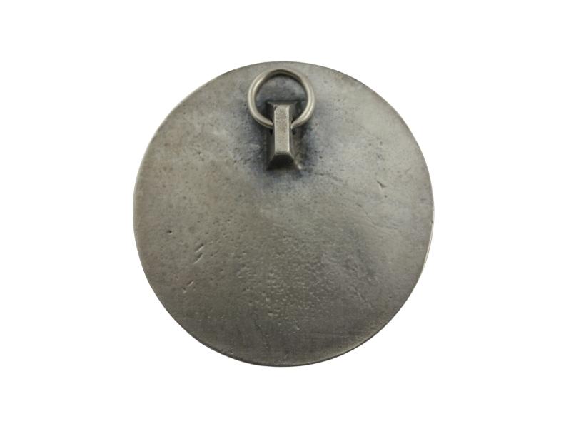 Medallon Fundicion Sagrado Corazon de Jesus 6cm - dorso