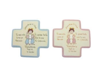 Cunero Madera Infantil cruz chica 10x10cm - todas