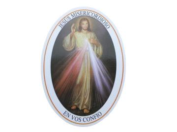 Adhesivos doble faz - Jesus Misericordioso - 11cm