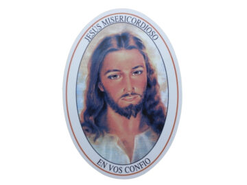 Adhesivos doble faz - Jesus Misericordioso rostro - 11cm