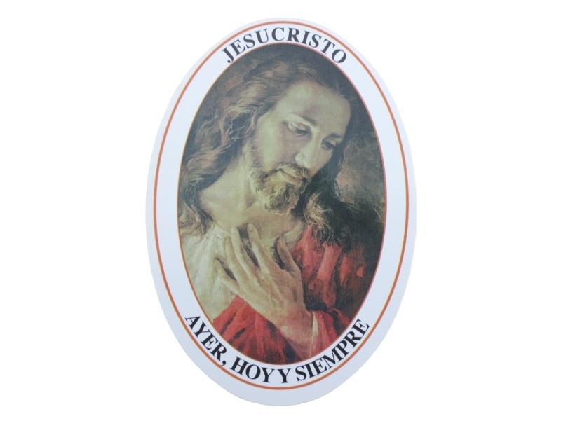 Adhesivos doble faz - Jesus Ayer Hoy y Siempre - 11cm