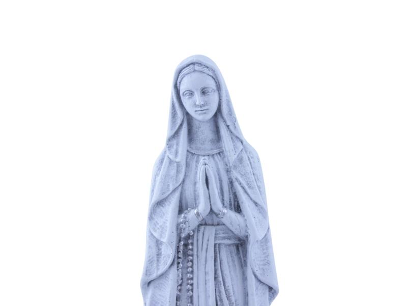 Estatua - Cemento exteriores - Lourdes - 43cm - zoom