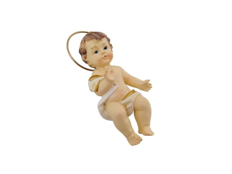 Niño Jesus con manos abiertas - Resina Italiana - 15cm - costado