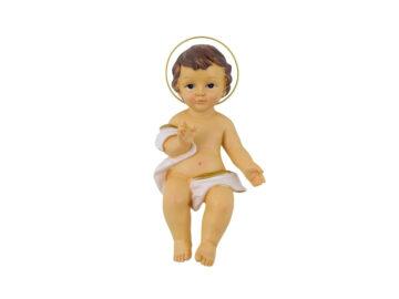 Niño Jesus con manos abiertas - Resina Italiana - 15cm - frente