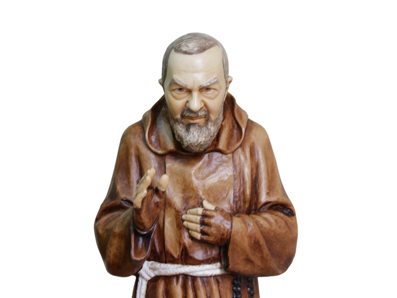 Estatua - Resina italiana - Padre Pio - 80cm - zoom