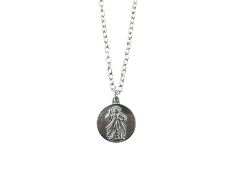 Medalla - Acero quirurgico - Jesus Misericordioso - 18mm