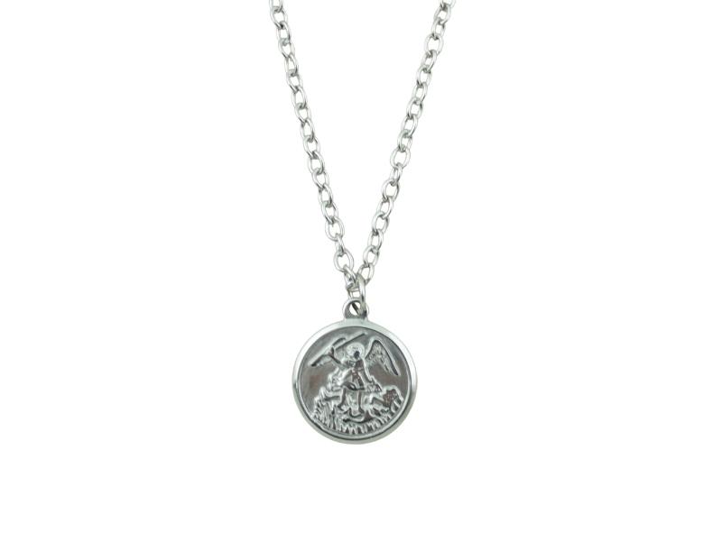 Medalla - Acero quirurgico - San Miguel - 22mm