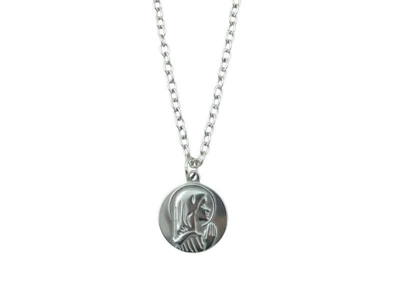 Medalla - Acero quirurgico - Virgen Niña - 22mm