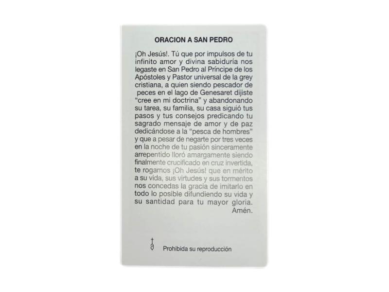 Estampas Santoral - San Pedro - oracion