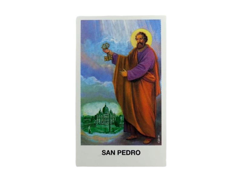 Estampas Santoral - San Pedro - 10x6cm frente