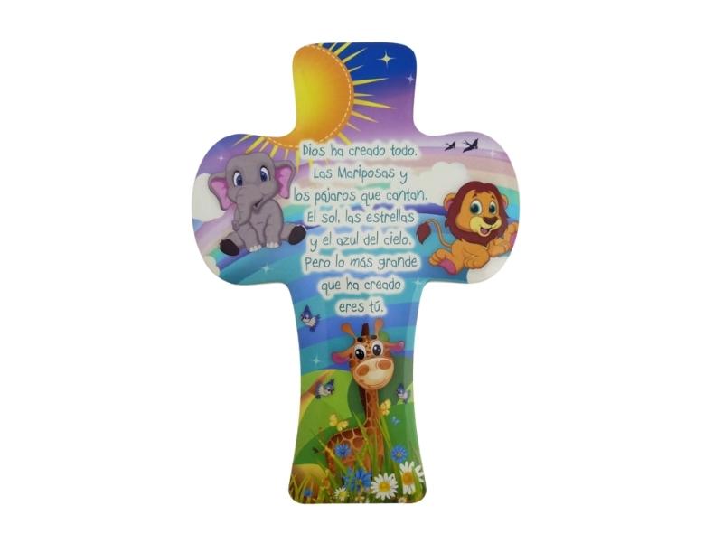 Cunero Resina - Cruz de pared Infantil con oracion - 15x22cm