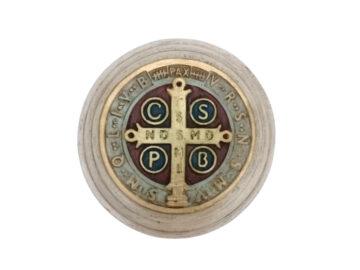 Imagen Yeso Artistico Medalla San Benito 13cm