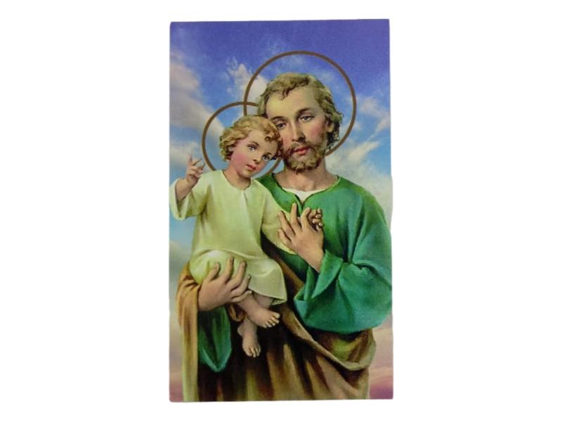 Estampa santoral con oracion San JOSE - frente