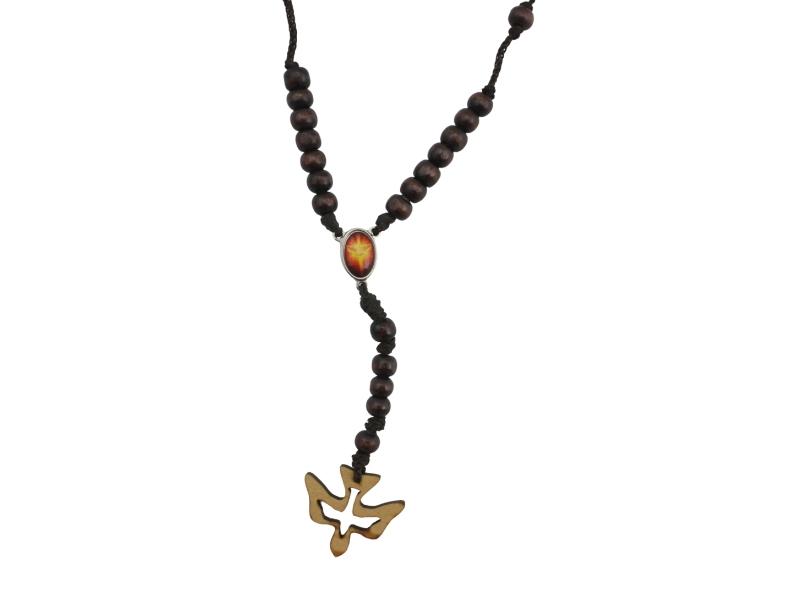 Coronilla - Madera - Espiritu Santo - zoom marron